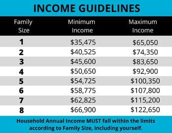 Income guidelines 2020